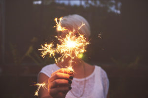 Person holding a sparkler