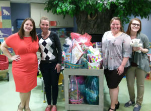 Member One employees deliver Easter Baskets to Carilion Children's Hospital