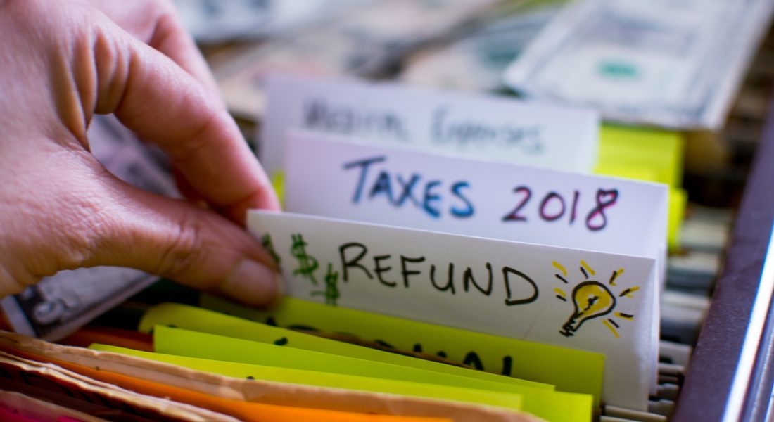 2018 Tax Refund In Filing Cabinet