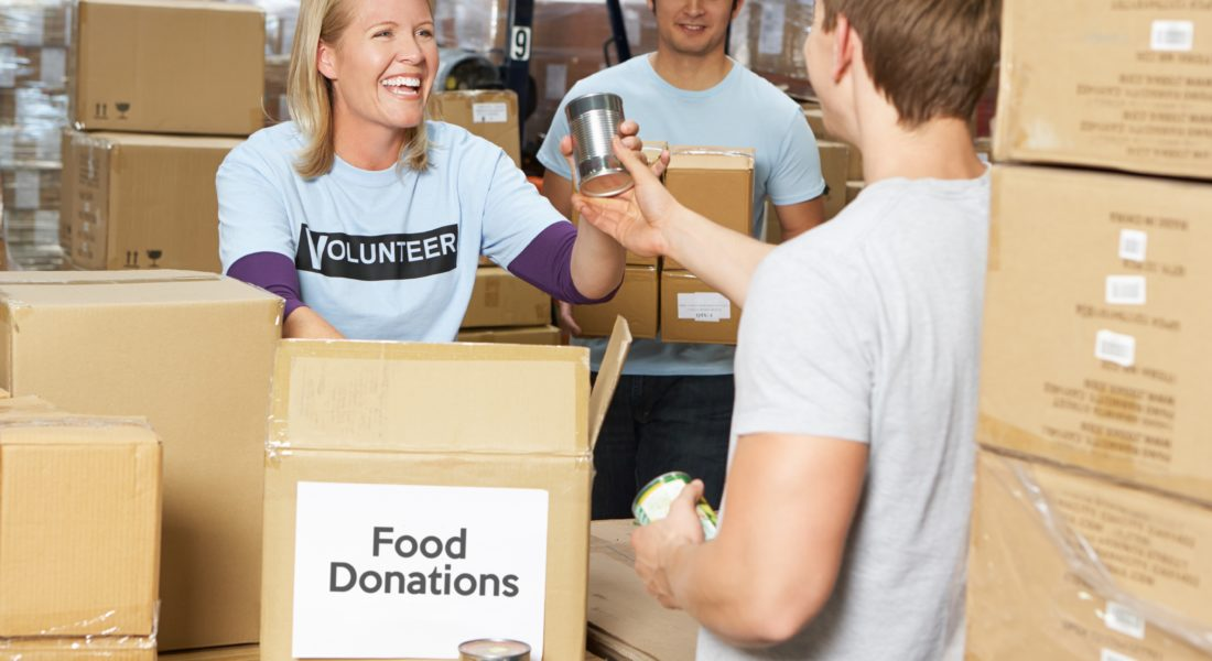 Volunteers At Food Shelf