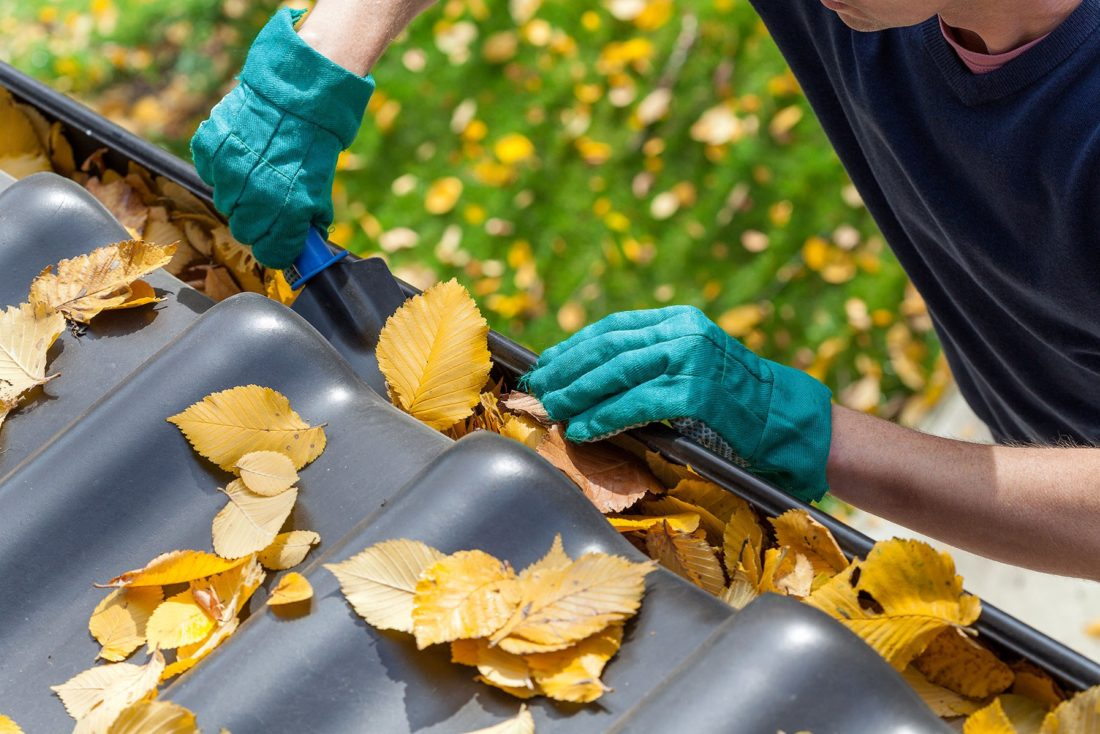 Clean your gutters in the fall to keep your home safe through the winter.