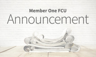 Pages of a book, Member One FCU Announcement text